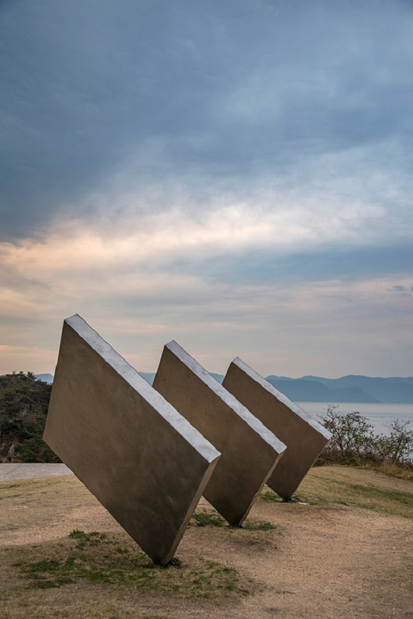 An outdoor installation at the Benesse Art Site on Naoshima titled