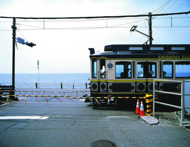 Coastal commuting on Kamakura's venerable tramway.