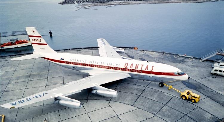 A Qantas Boeing 707 jet in 1959.