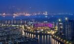 W Singapore-Sentosa Cove lights up at night