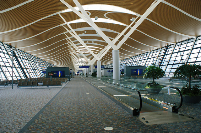 Now travelers won't have to be amused by the inside of Chinese airports. Photo by Hugh Llewelyn