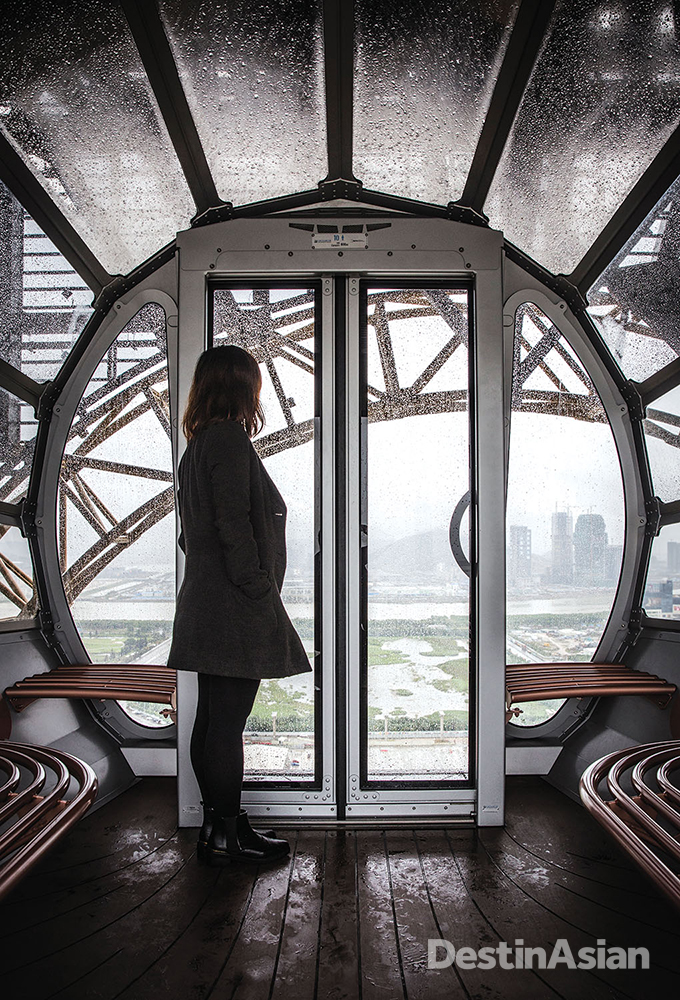 Taking in the views from the Golden Reel.