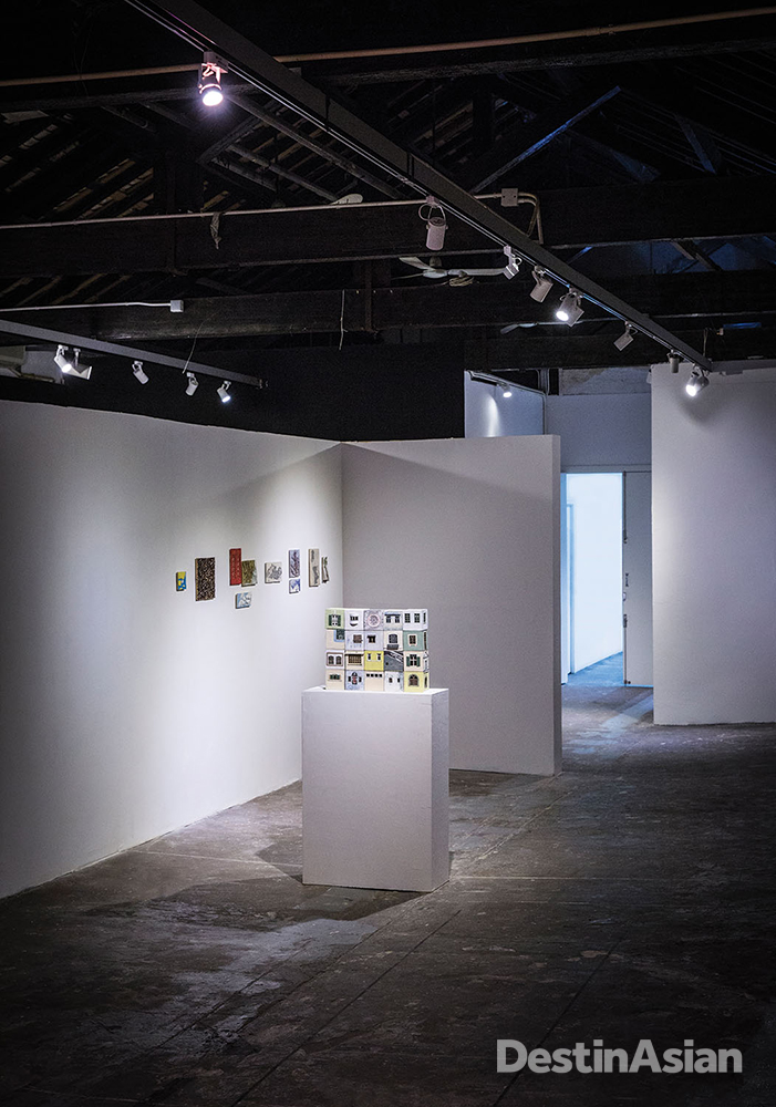 An exhibition space at Ox Warehouse.