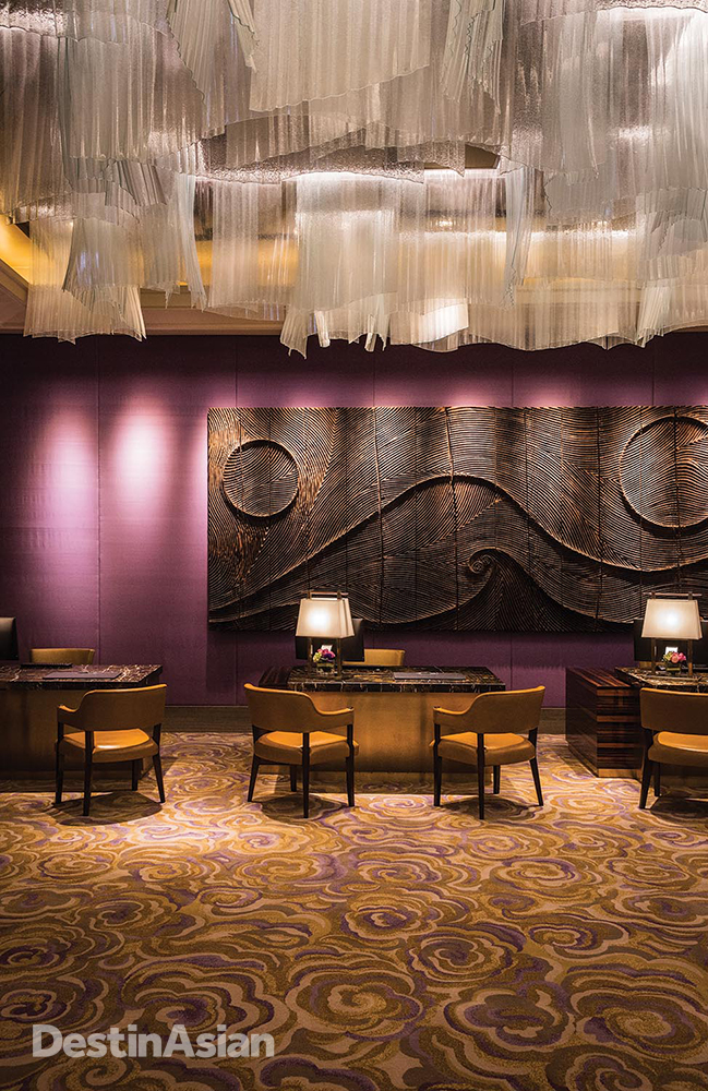 The reception area at the newly opened St. Regis Macao.