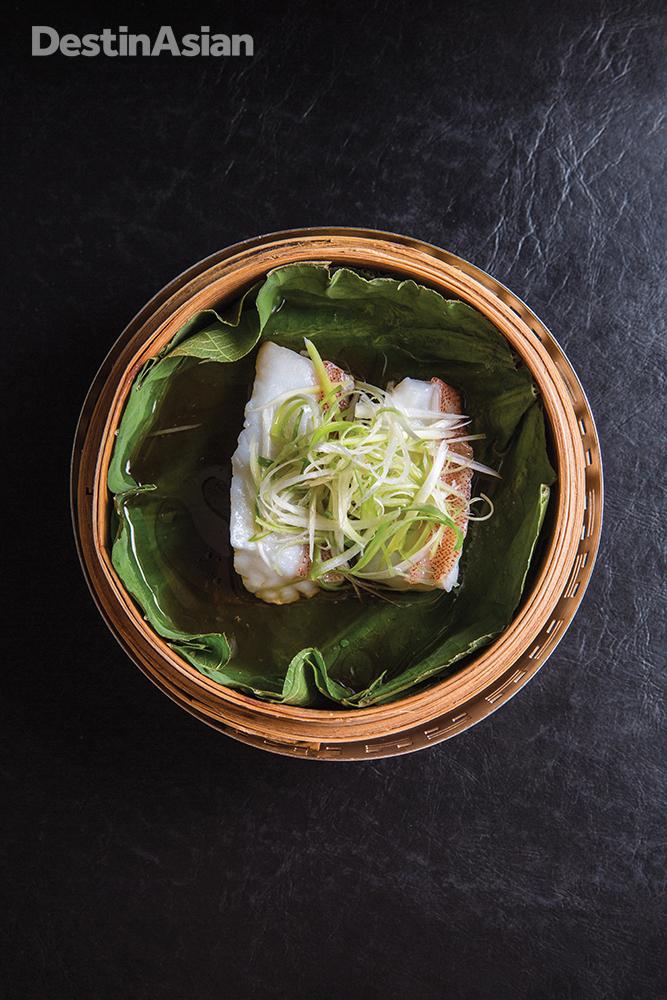 Steamed garoupa fillet at the Four Seasons Hong Kong's Lung King Heen restaurant.
