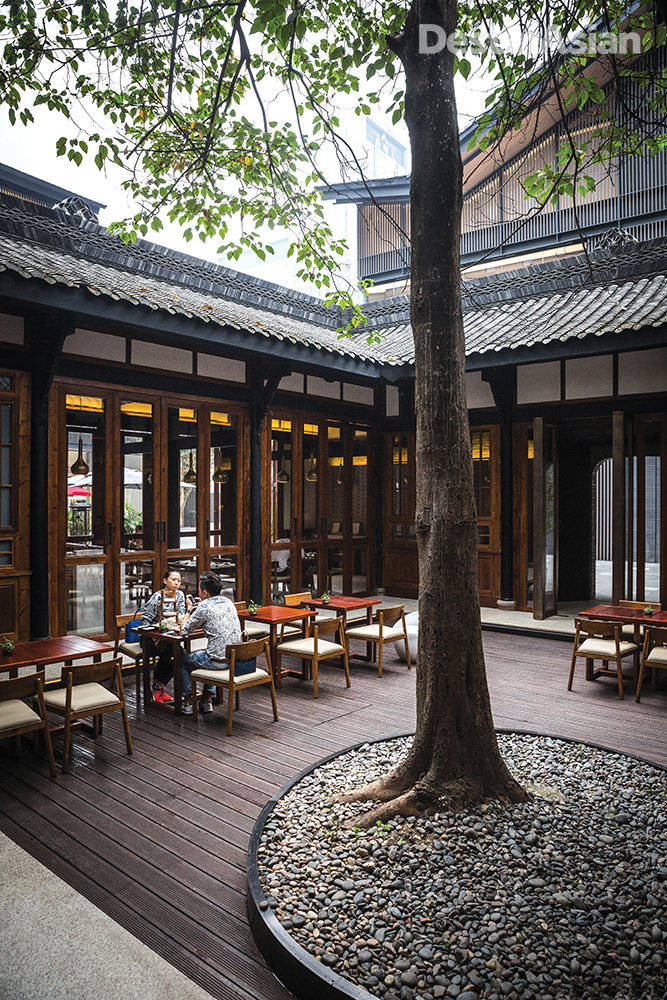 The courtyard at the Teahouse.