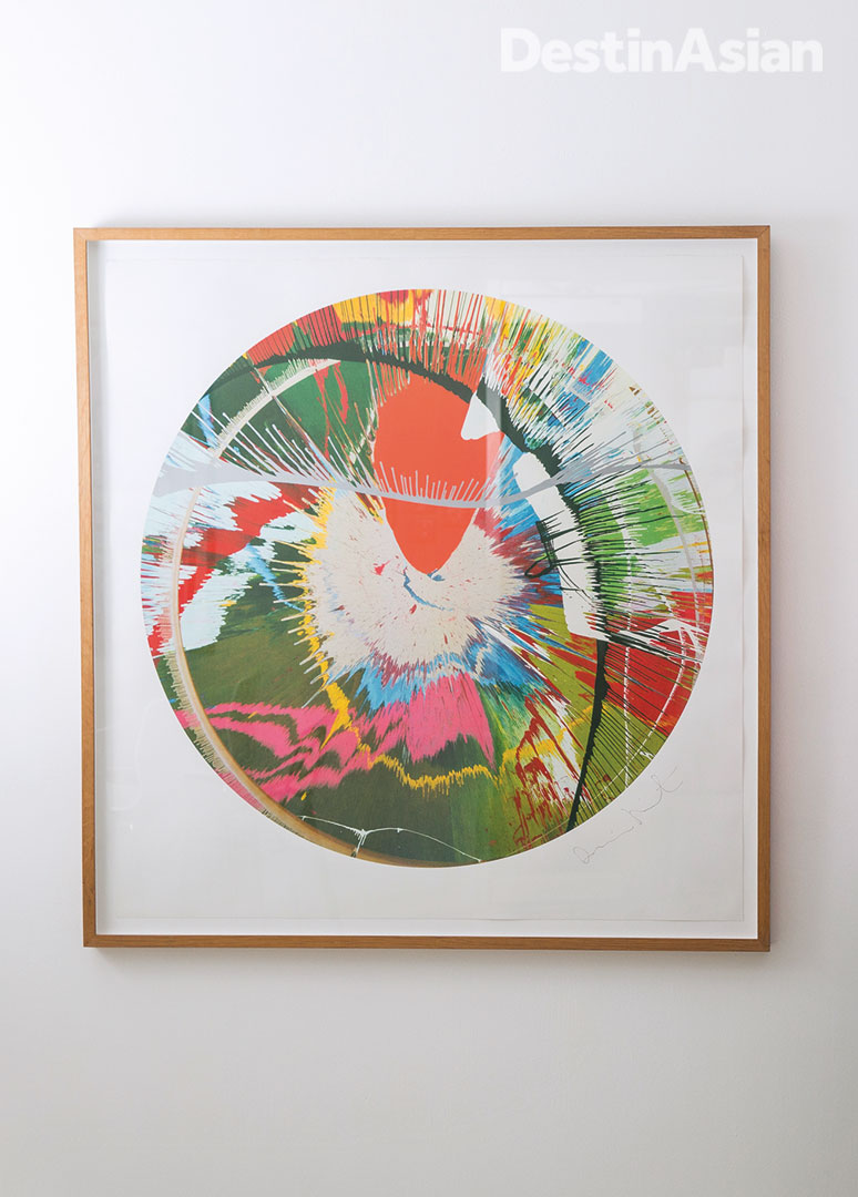 A limited edition Damien Hirst print at Fabrik Gallery.