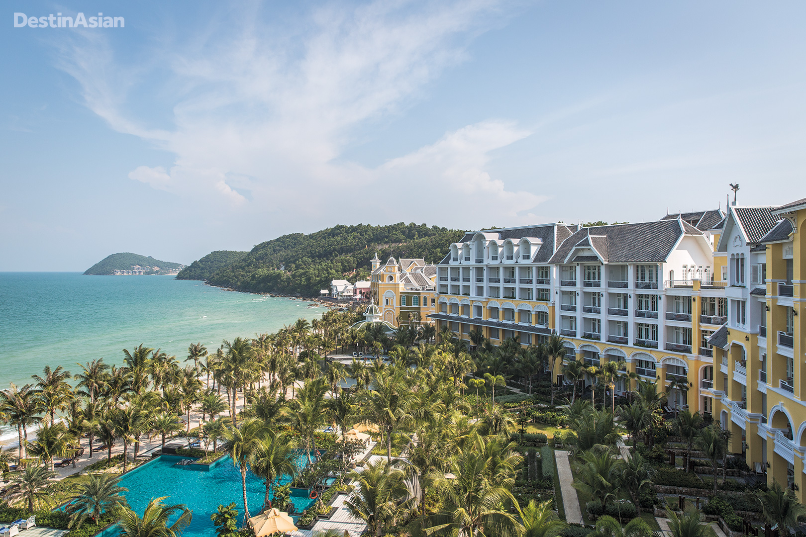 The view from a penthouse suite at the JW Marriott Phu Quoc Emerald Bay.