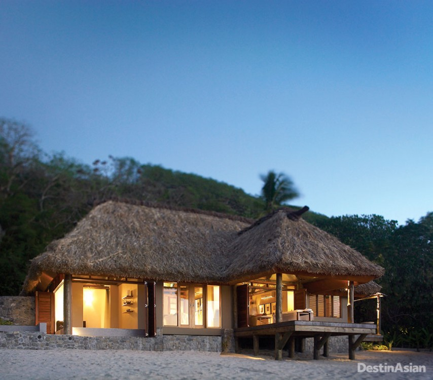 The beachside spa bure at Yasawa Island Resort & Spa.