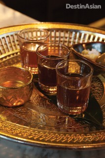 A selection of Tep Bar's signature yadong (Thai rice whiskey) infusions.