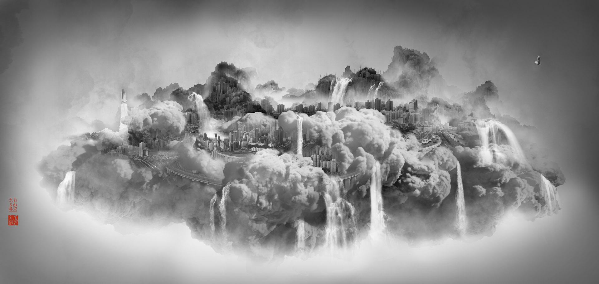 Heavenly city. Courtesy of Galerie Paris-Beijing.