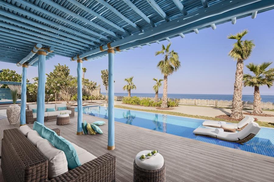 Seaside private pool at the three-bedroom pool villa.