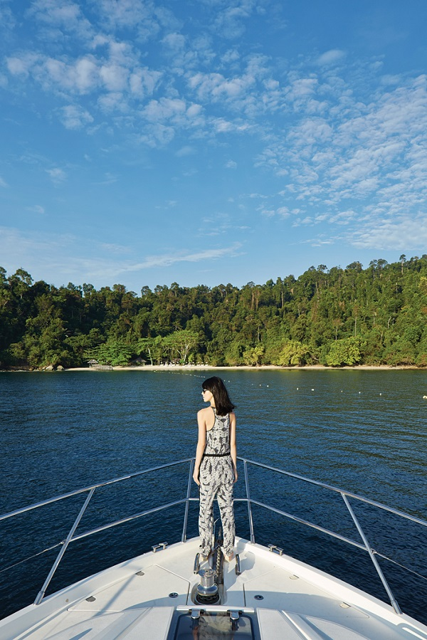Aboard the Lumba-Lumba, Gaya Island's private yacht.