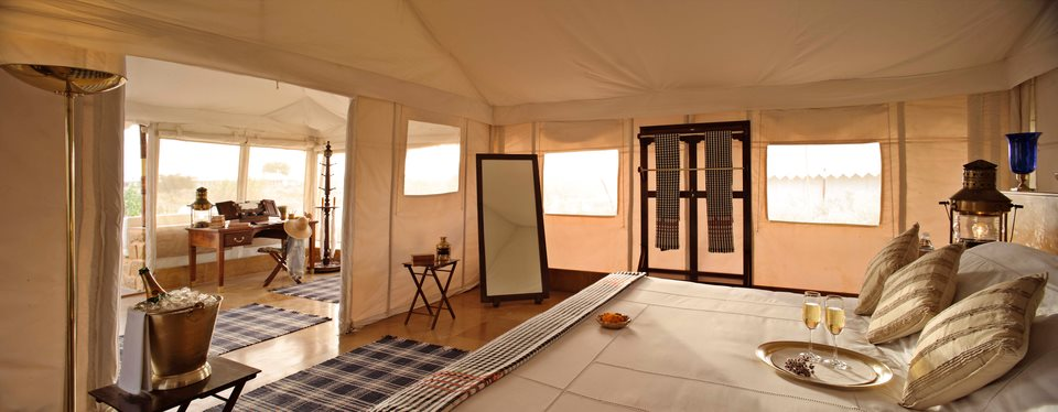 The luxury tented suites at The Surai make for a great base camp during the Jaisalmer Desert Festival.