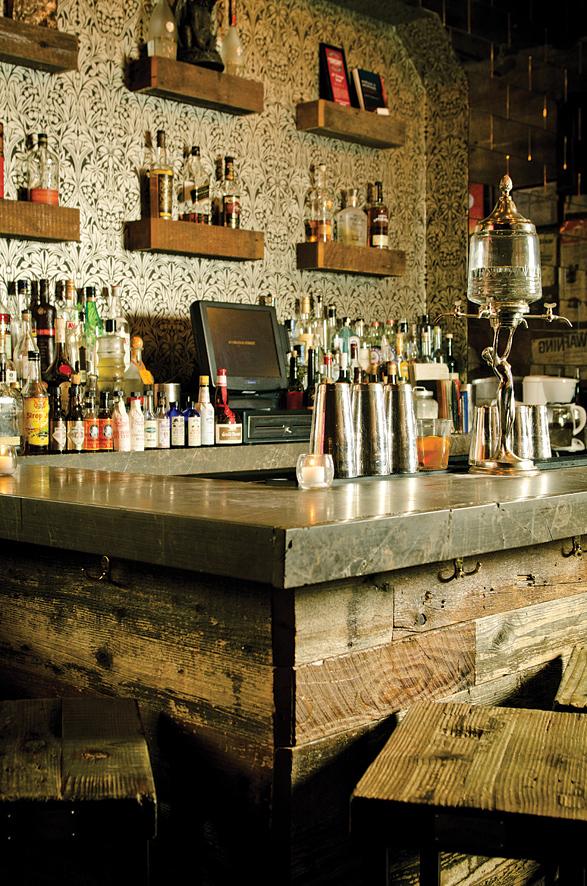 The bar at 67 Orange Street.