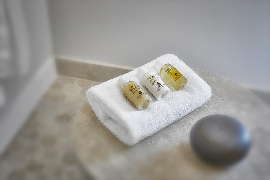 The aromatherapy-based COMO Shambhala toiletries.