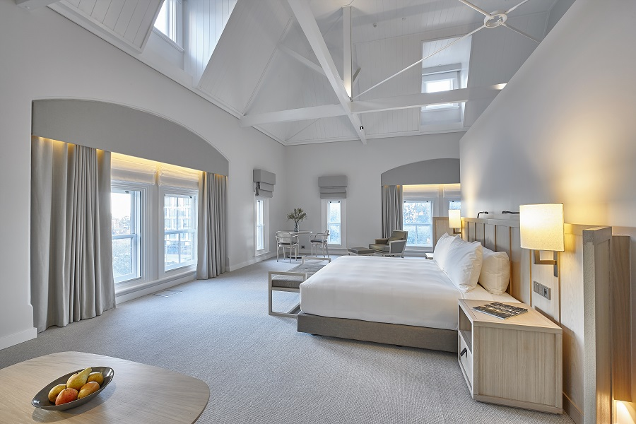 Rooms are designed with large windows, allowing plenty of natural lighting.