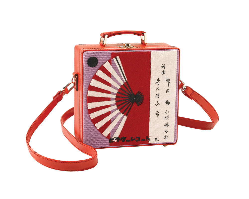 A boxy fan purse from the collection.