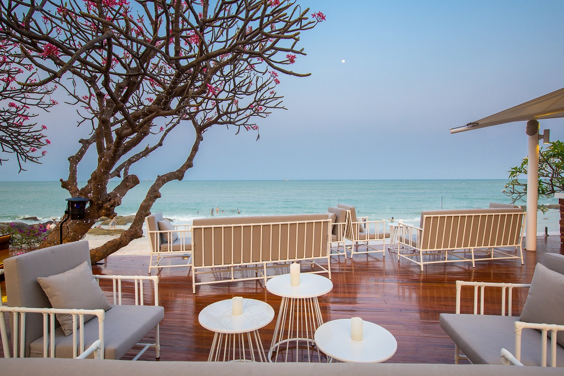 The Chay Had restaurant at Hilton Hua Hin Resort and Spa gives guests direct access to the beach.