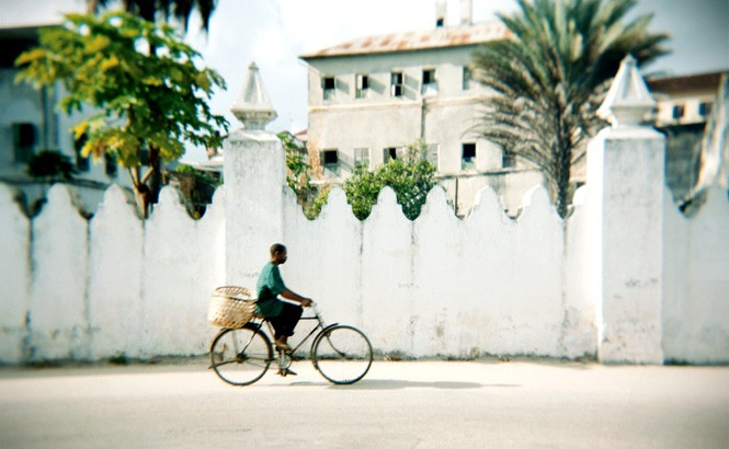 Outside Stone Town's old Arab Fort complex.