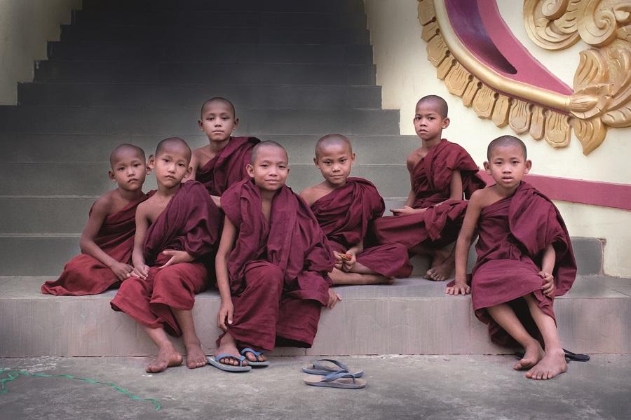 Young Bikkhus in Myanmar.