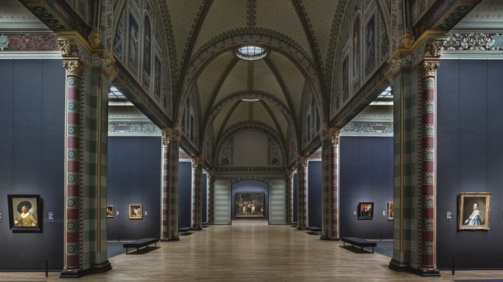 The Rijksmuseum's hall of fame in Amsterdam.