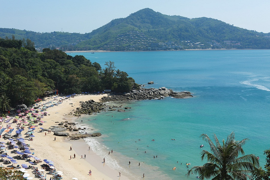 Overlooking Layan Beach.