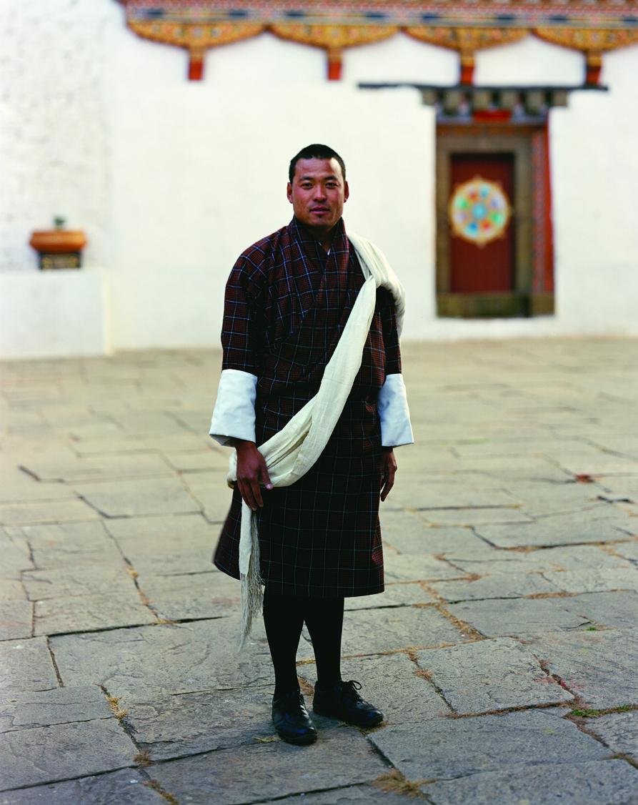 Amanresorts guide Sangay Dorji in a courtyard at Paro Dzong.