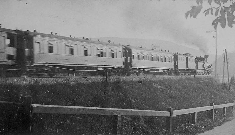 The original Orient Express near Vienna in 1885.