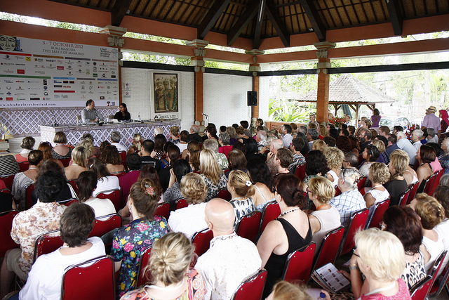 Jeffrey Eugenides speaks at the 2012 Ubud Writers & Readers Festival. Image credit Stanny Angga.