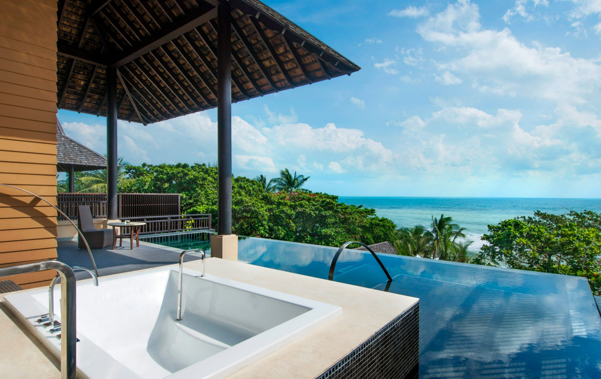Staring out at the Gulf of Thailand from a Grand Pool Suite.