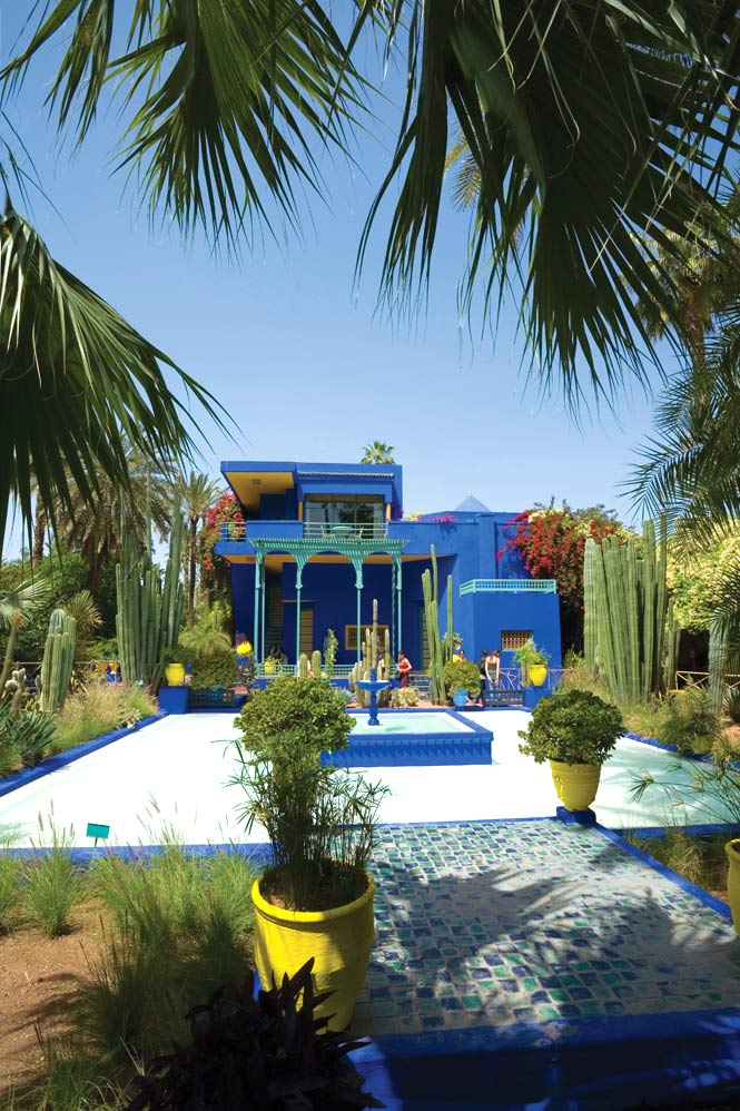Jardin Majorelle offers a leafy escape from the bustle of Guéliz.