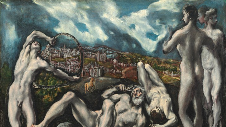 El Greco's Laocoon, which depicts the eponymous Trojan priest and his sons being strangled by sea serpents.
