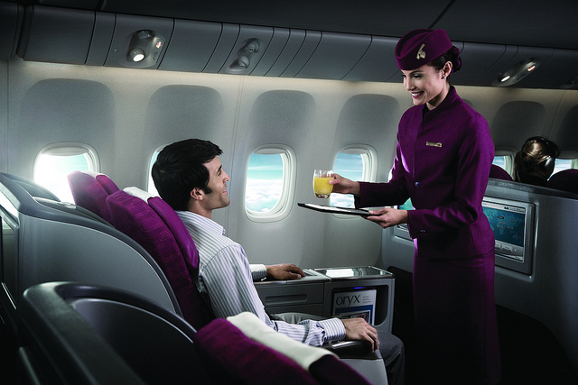 Service on Qatar's Boeing 777.