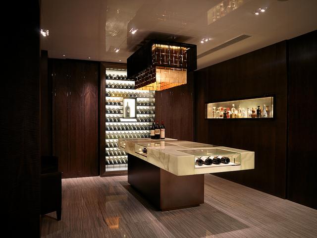 Yan Toh Heen wine cellar.