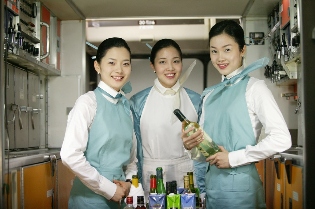 Korean Air cabin crew.