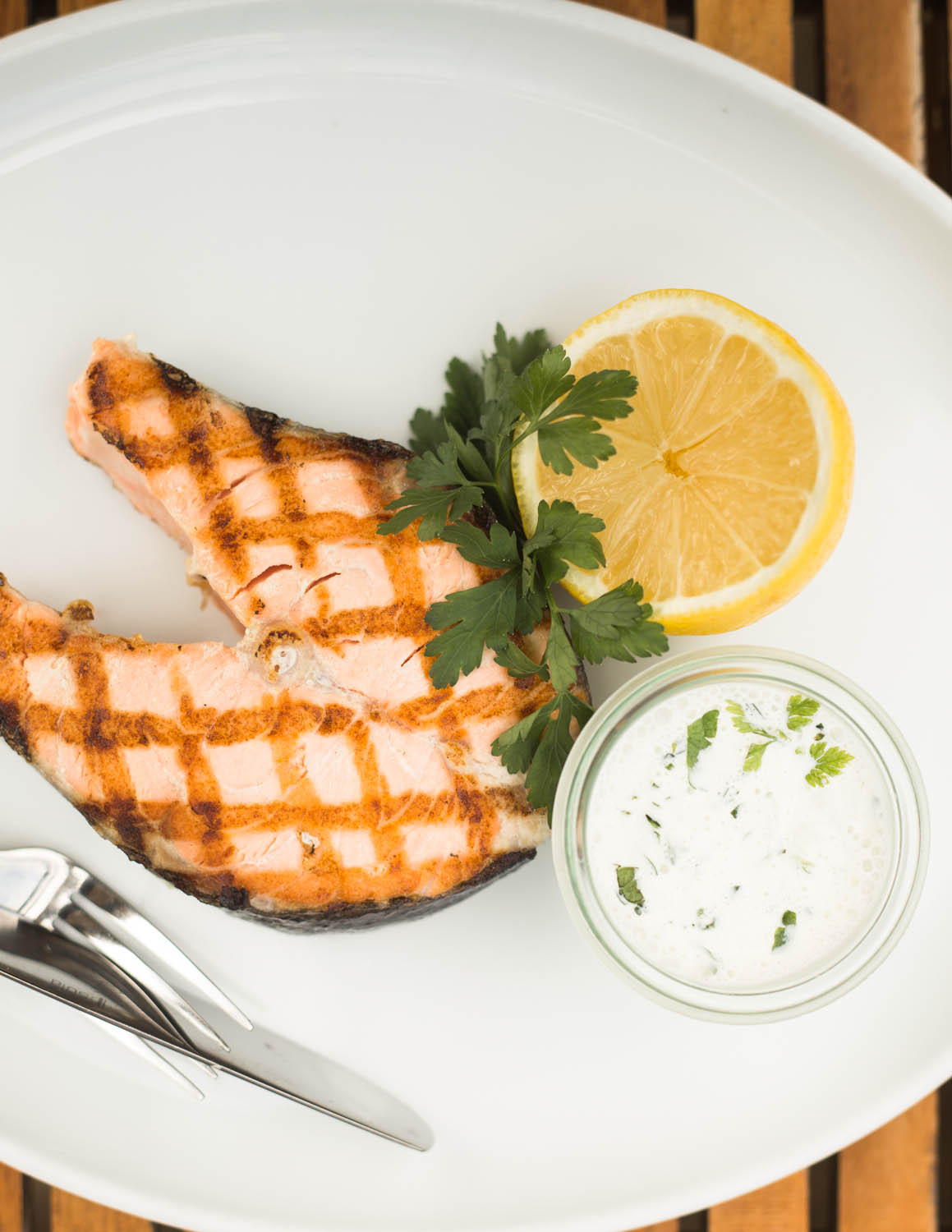 A tempting grilled salmon at Schwellenmätelli.
