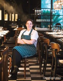 Sabrina Stillhart, chef at Bread Street Kitchen Singapore