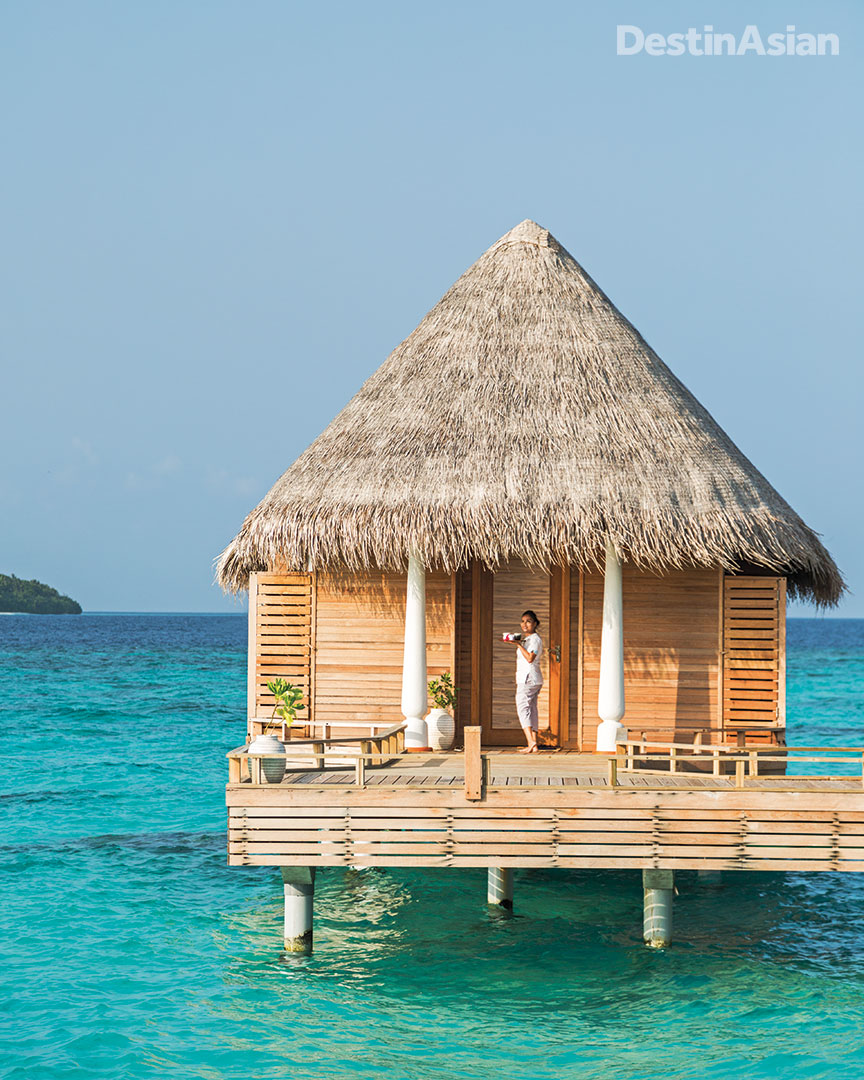 A treatment villa at Milaidhoo Island's overwater spa.