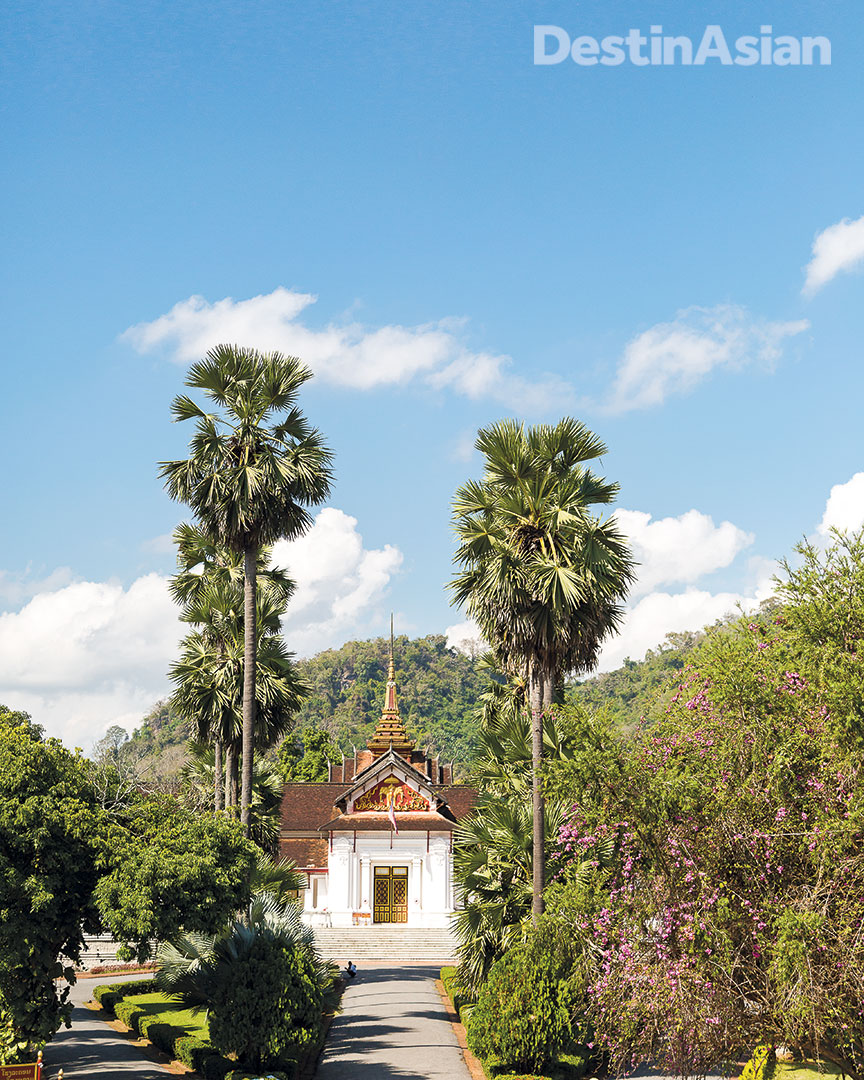 Luang Prabang's Royal Palace Museum, originally built in 1904 as a residence for the country's bygone monarchs.