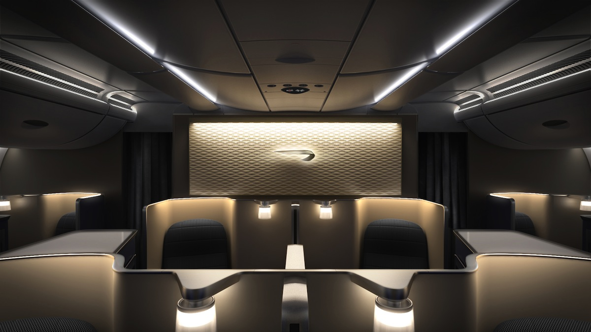 British Airway's First Class cabin.