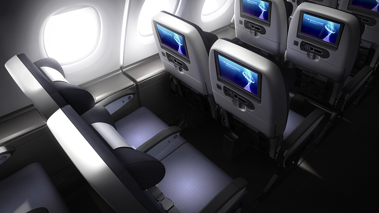 World Traveler Plus Class on the new A380.