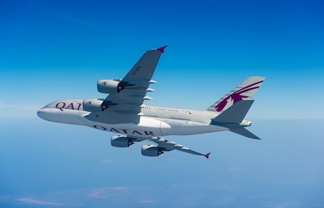 Qatar Airways' 517-seat A380.