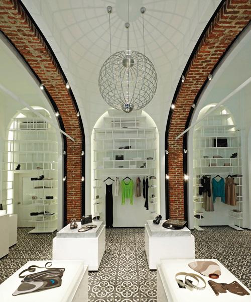 Inside Arzu Kaprol's vaulted Serdar-ı Ekrem showroom.