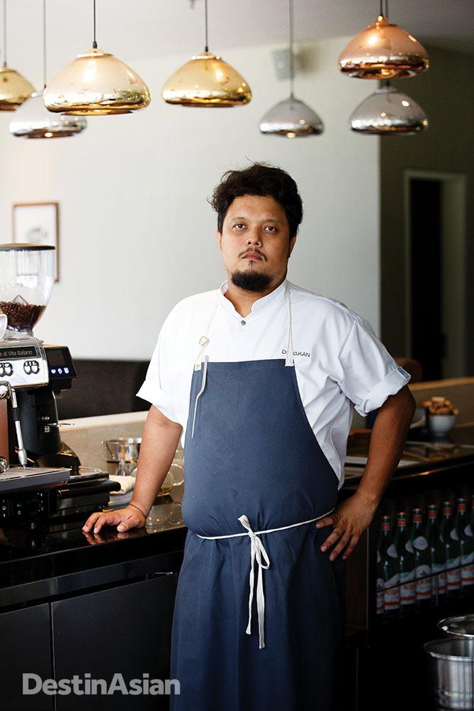 Chef Darren Teoh in his restaurant.