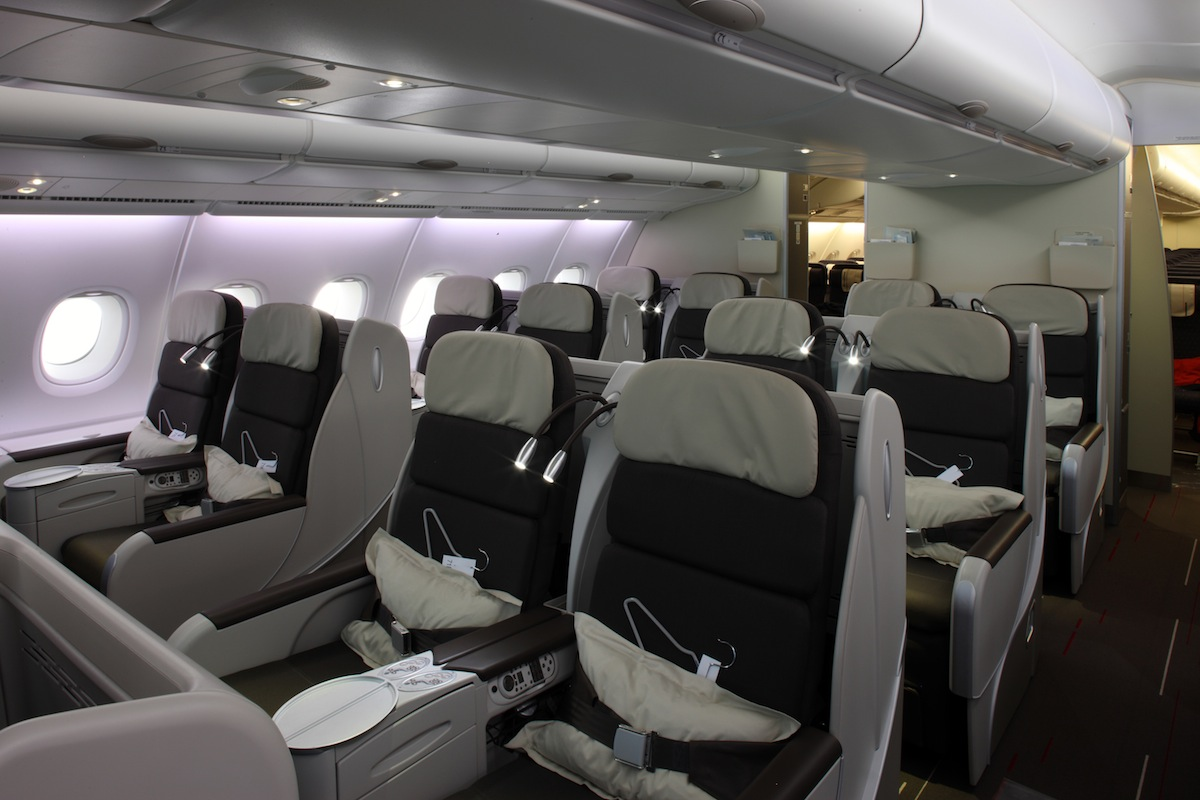 Air France's A380 Business Class.