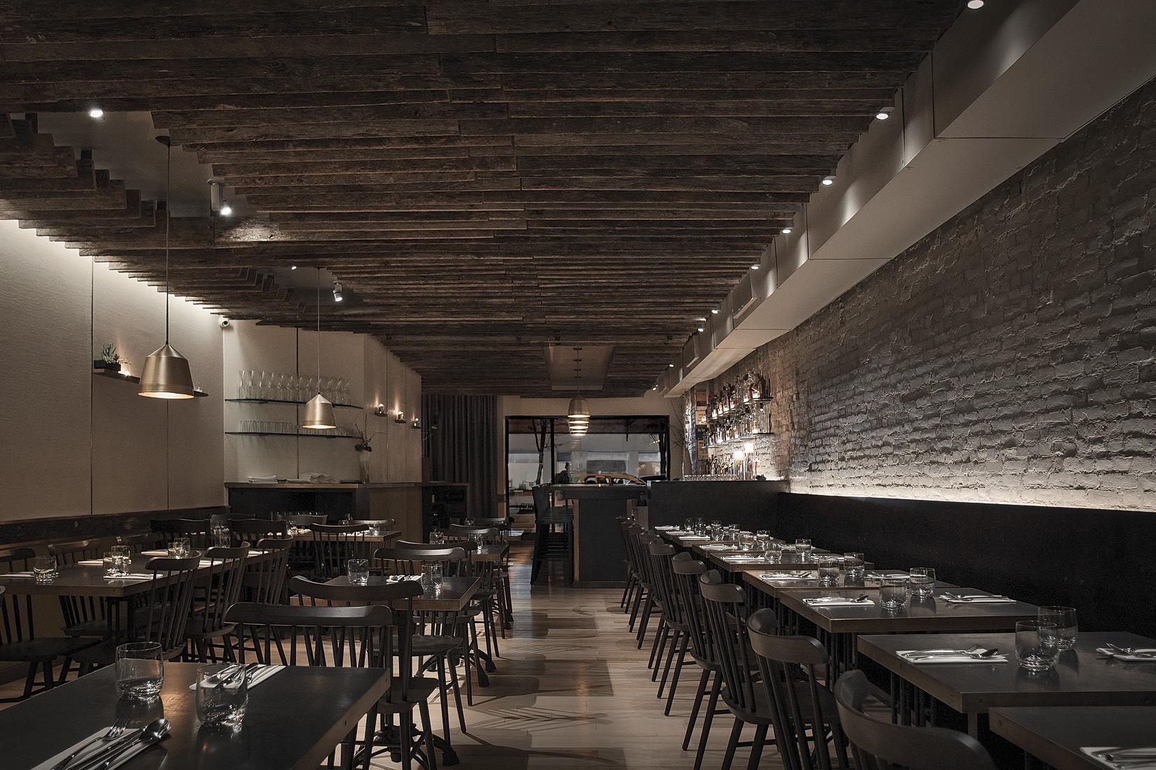 Alder's dining space in Manhattan.