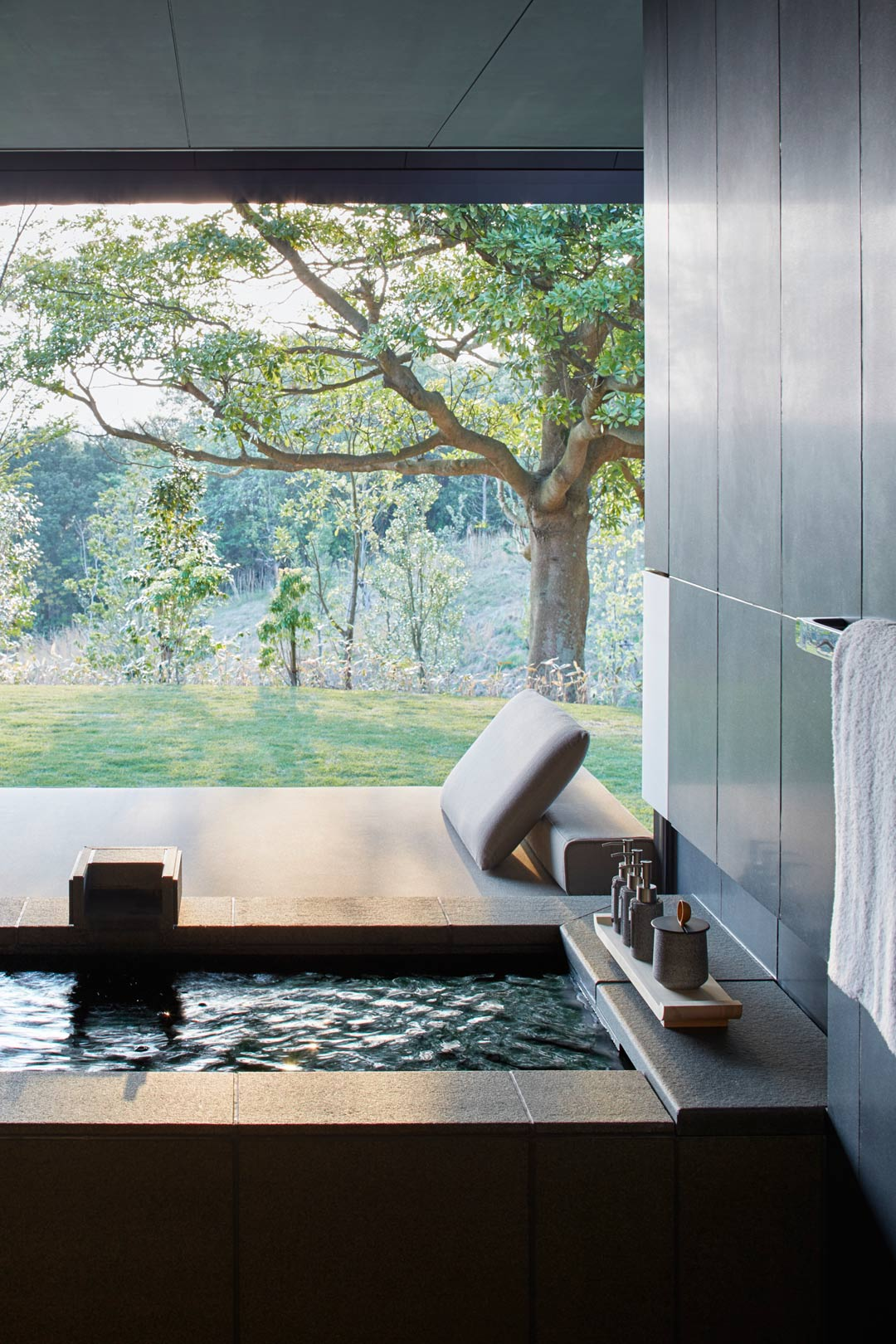 The two-bedroom Mori Villa beckons with private onsen facilities.