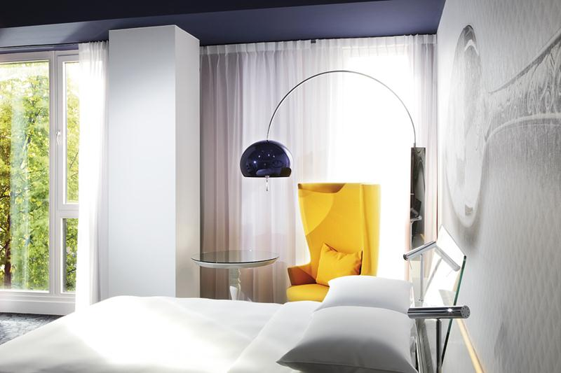 A Garden View Room at the Andaz Amsterdam Prinsengracht.