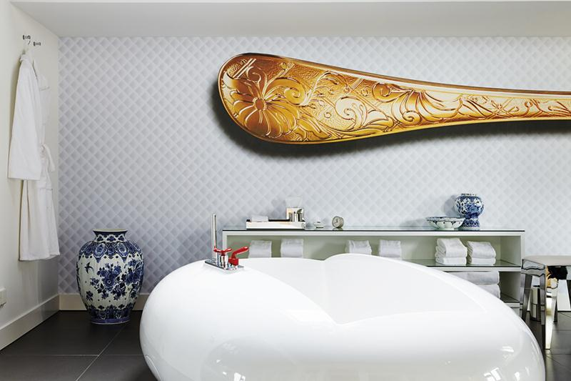 All the rooms at the Andaz Amsterdam Prinsengracht  feature a nautical theme.